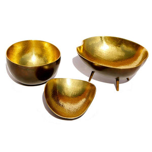 Set of three Brass Bowls
