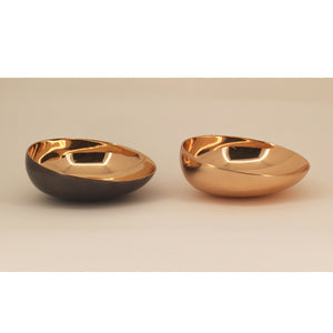 Set of Two Handmade Cast Bronze Indian Bowl, Vide-Poche