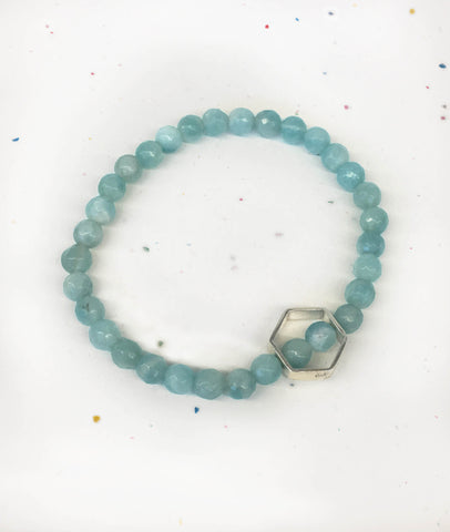 MAERA 6mm Bracelet - Amazonite