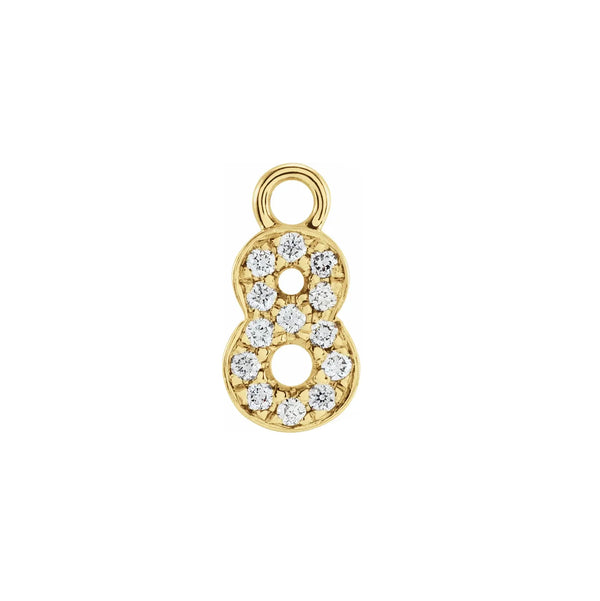 LUCKY NUMBERS Diamond Charms - 14k Gold