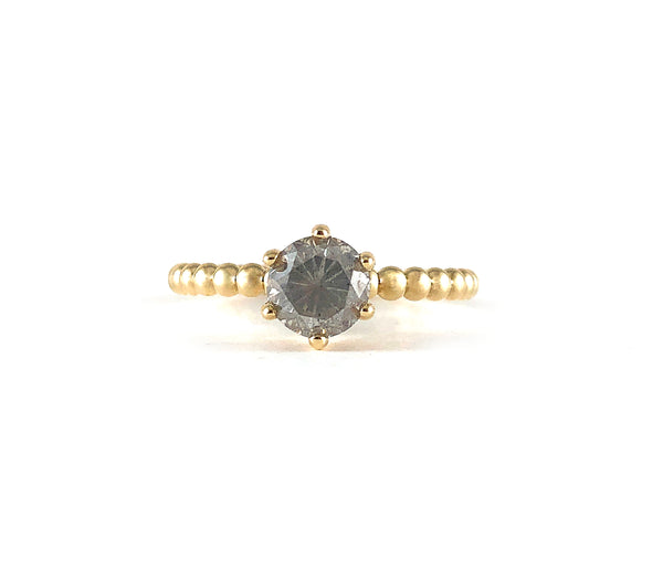 DEMI Diamond Solitaire Ring *READY to SHIP*