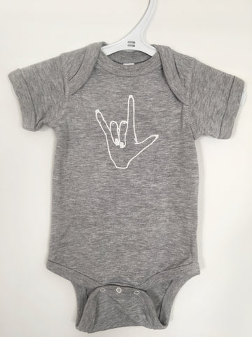 Love Signs Baby Onesie