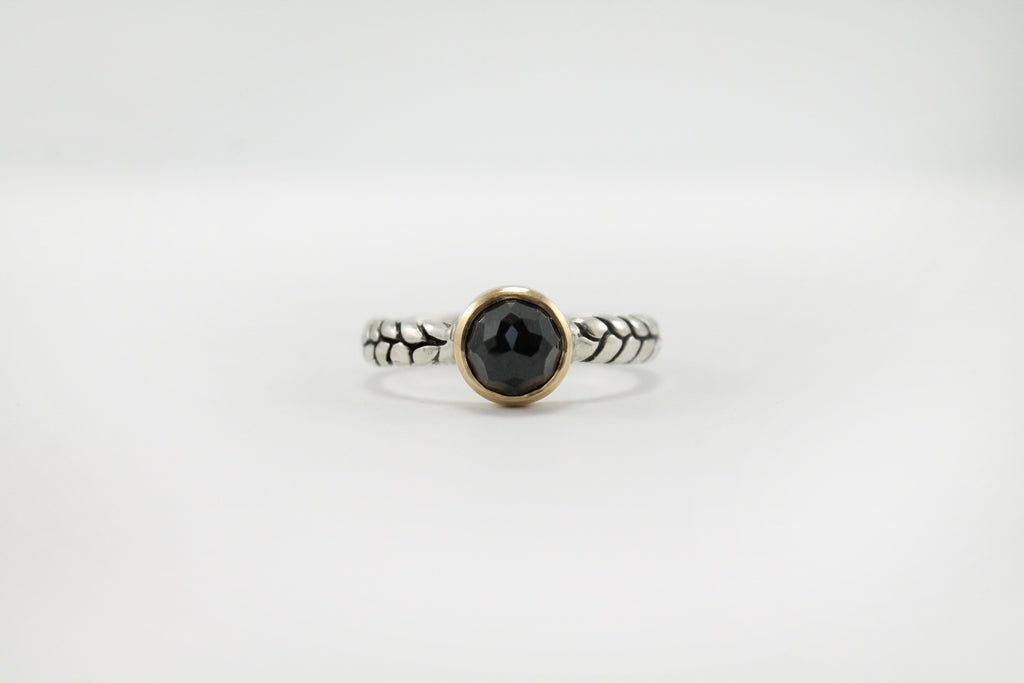 'Opis' Ring w/ Black Spinel