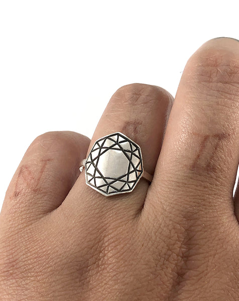 Eastern Facets Ring - Octagon Cut