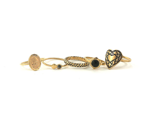 HEART CUT Ring - 10k Gold - **READY TO SHIP**
