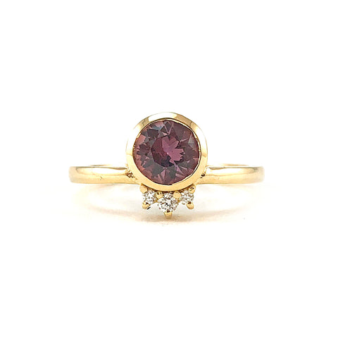 TALI Ring - Burgundy Sapphire **READY TO SHIP**