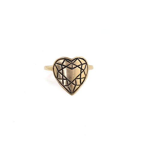 Eastern Facets Collection - HEART CUT Ring