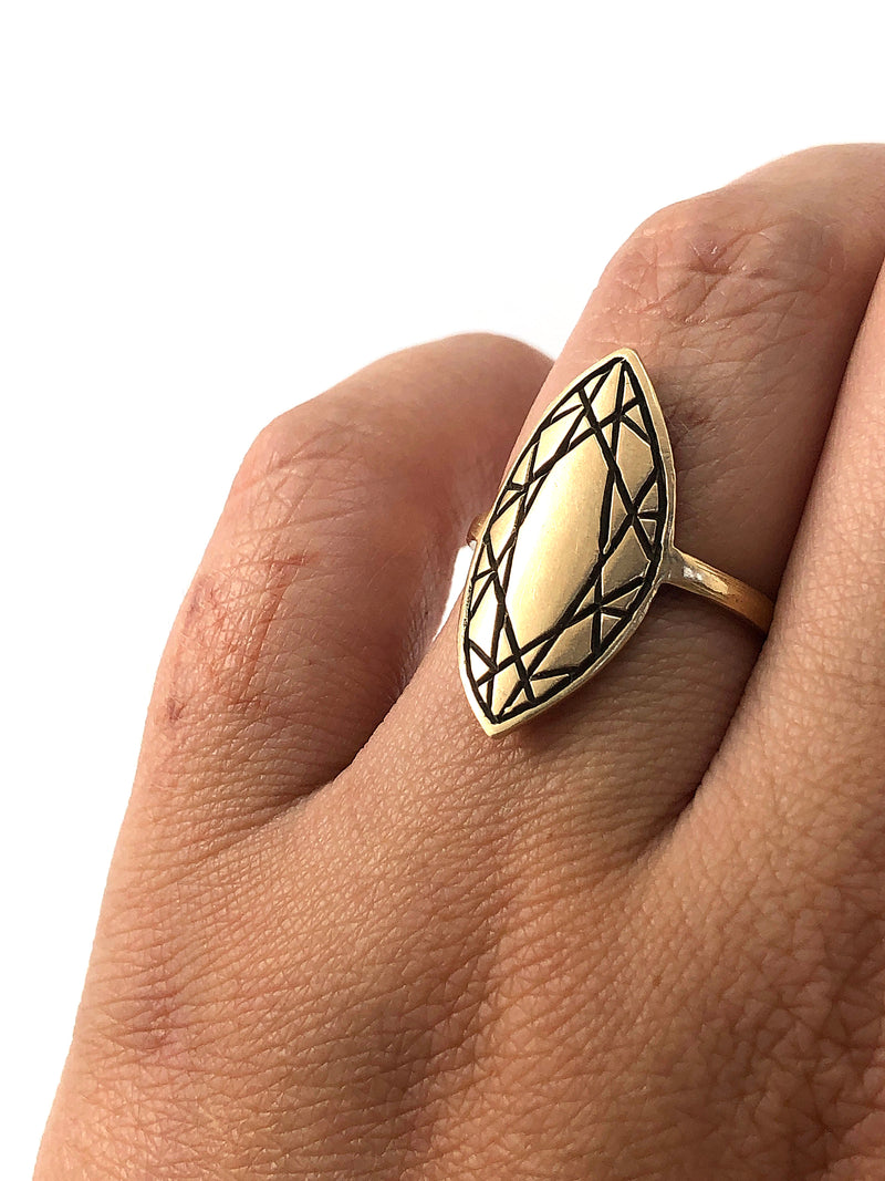 MARQUISE CUT Ring - 10k Gold - **READY TO SHIP**