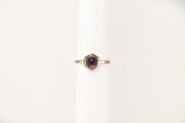 CLIO Ring - 10k Rose Gold & Amethyst