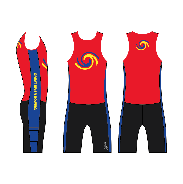 *Required(uni or tank/trou)* Great River Rowing Men's Unisuit