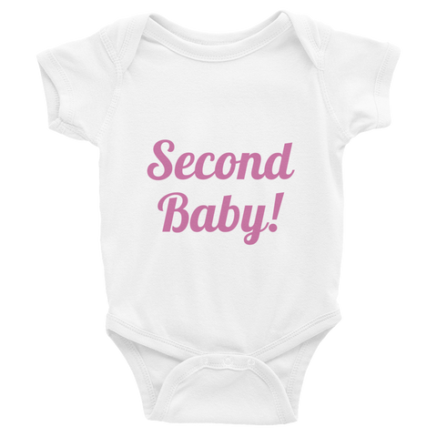 Girl's Second Baby Infant Bodysuit