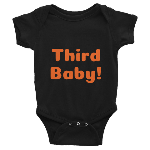 Third Baby Infant Bodysuit