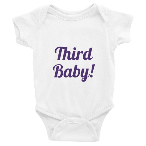 Girl's Third Baby Infant Bodysuit