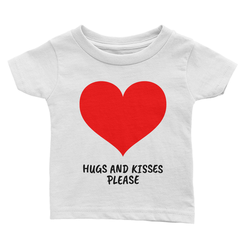 Hugs and Kisses Baby Girl Tee