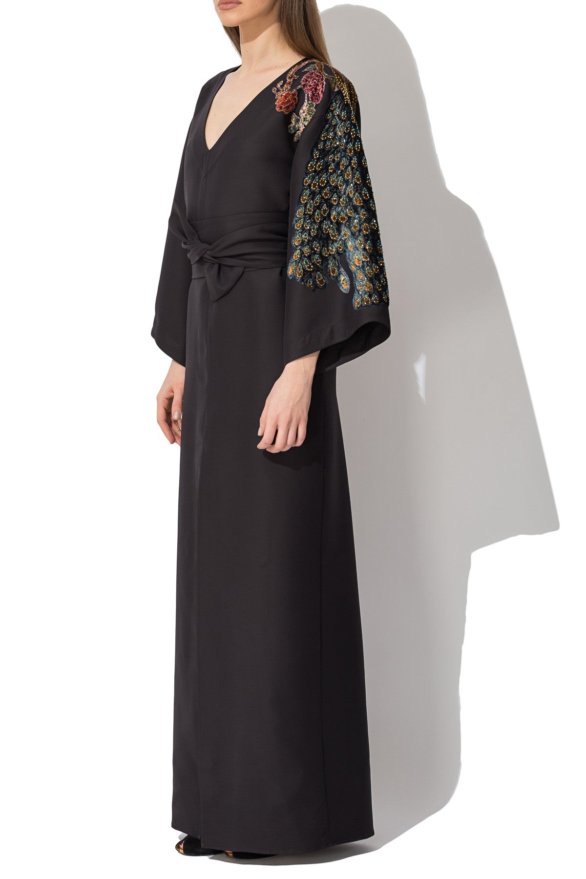 Appliquéd Kimono Gown, Dress - A.A Design