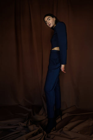 Cotton-Blend Fleece Top & Pants Co-Ord, Co-Ord, Andra Andreescu - Andra Andreescu Design