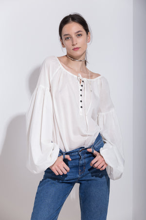 Cotton-gauze Blouse, Blouse - A.A Design