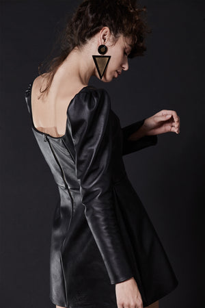 CAROLINE LEATHER MINI DRESS, Dress - A.A Design