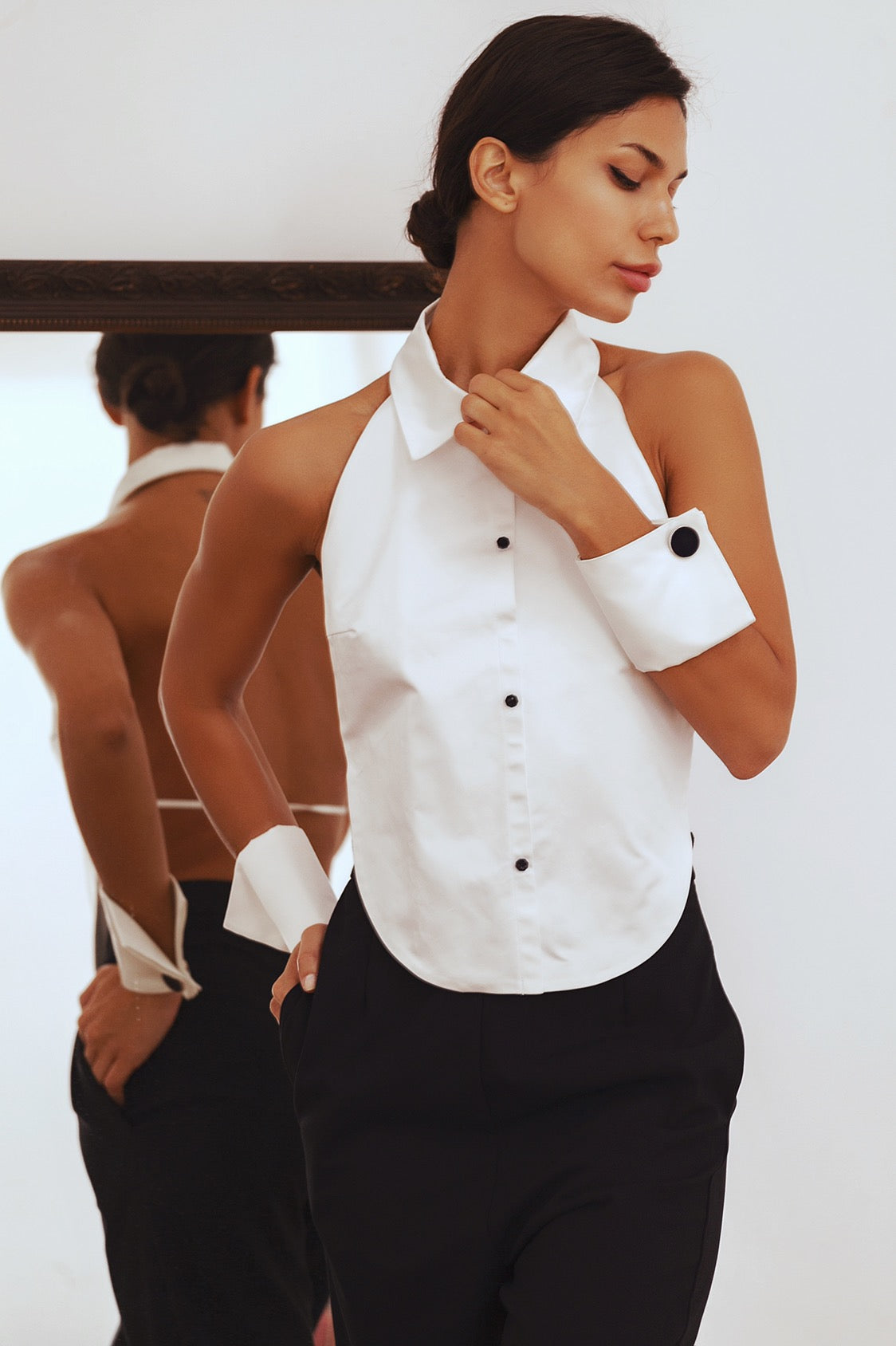 MANON Rebelliousness Open Back Top Shirt, Shirt - A.A Design
