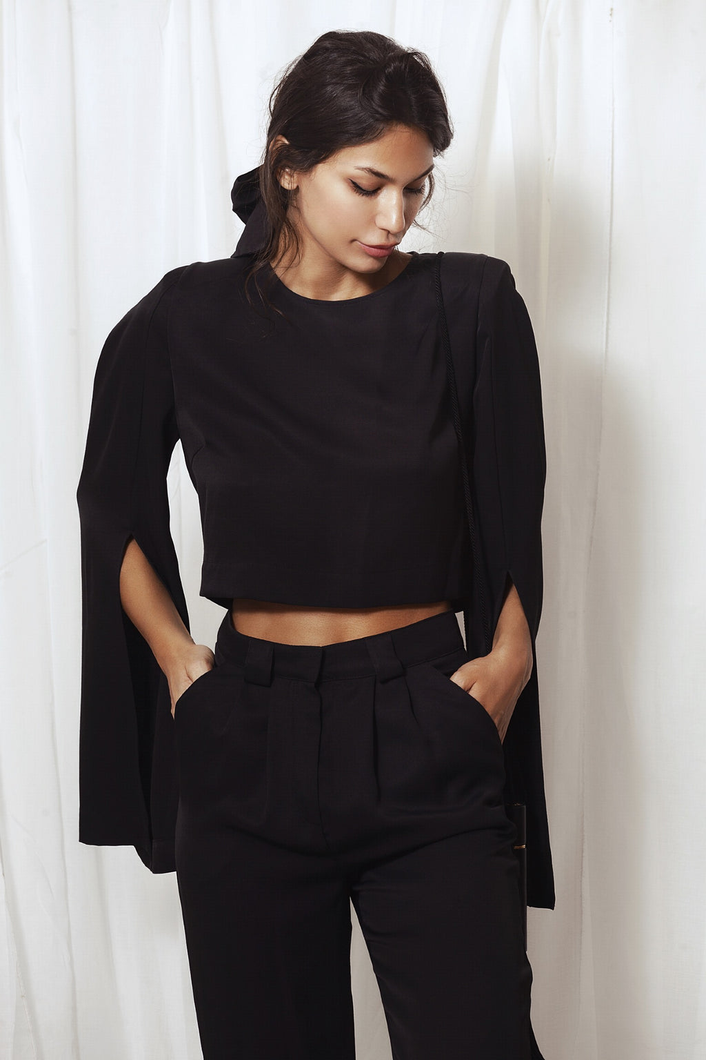Nima cropped blouse, Blouse - A.A Design
