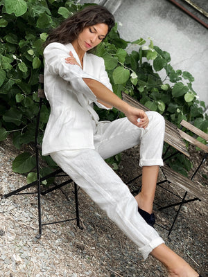 MOSS co-ord Linen Trousers, Trousers - A.A Design