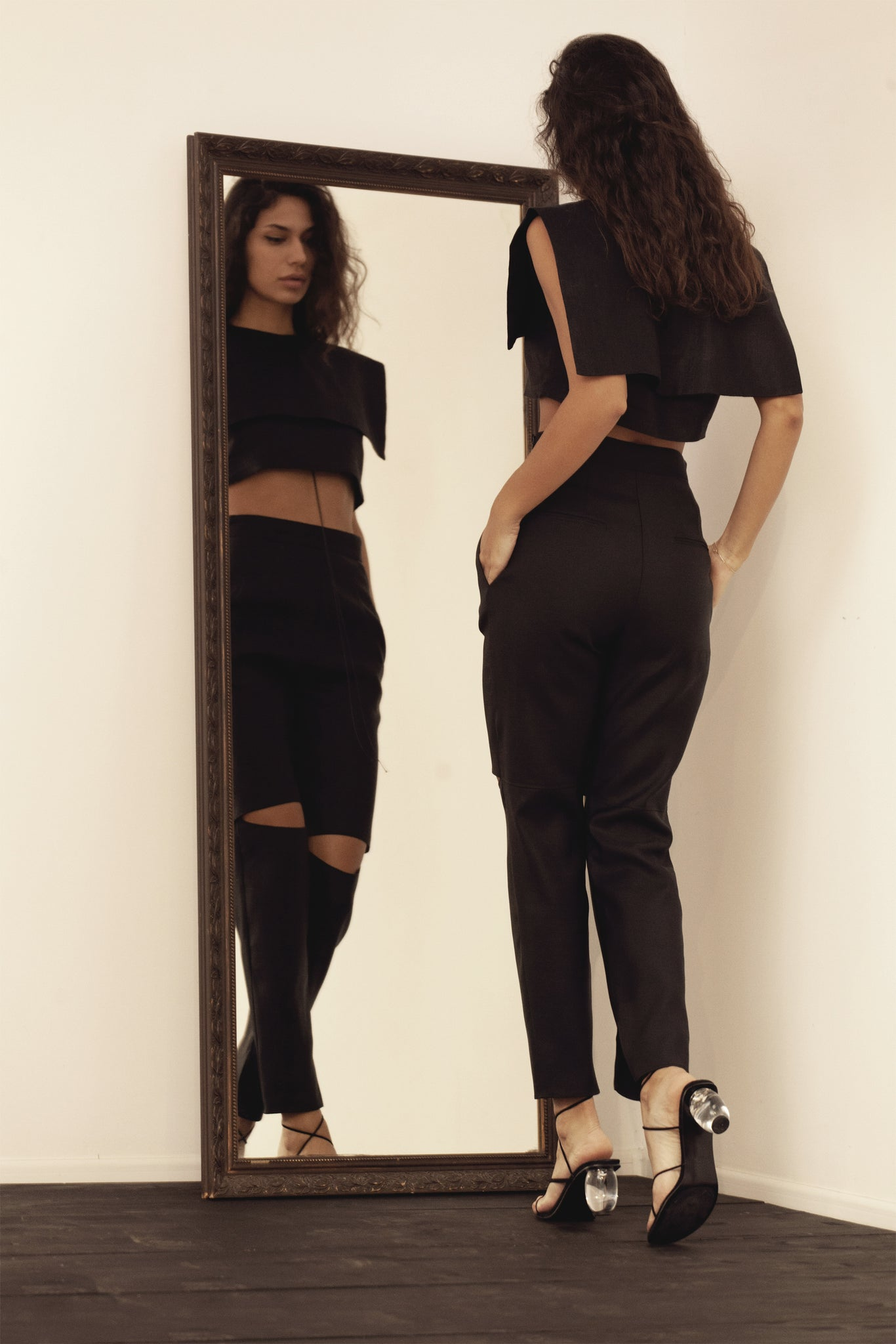 High waist Cropped Pants, Trousers - A.A Design