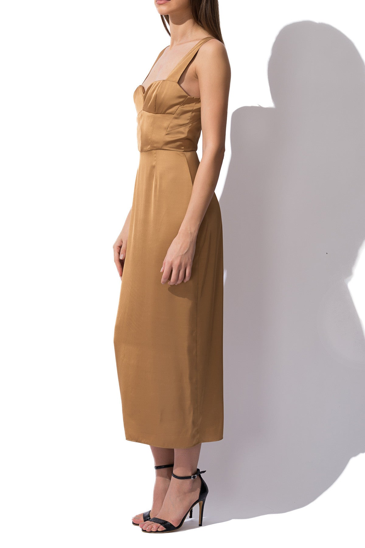 Silk Midi Dress, Dress - A.A Design