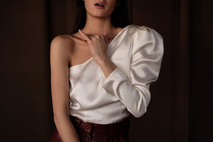 Silk One-Shoulder Top - Andra Andreescu