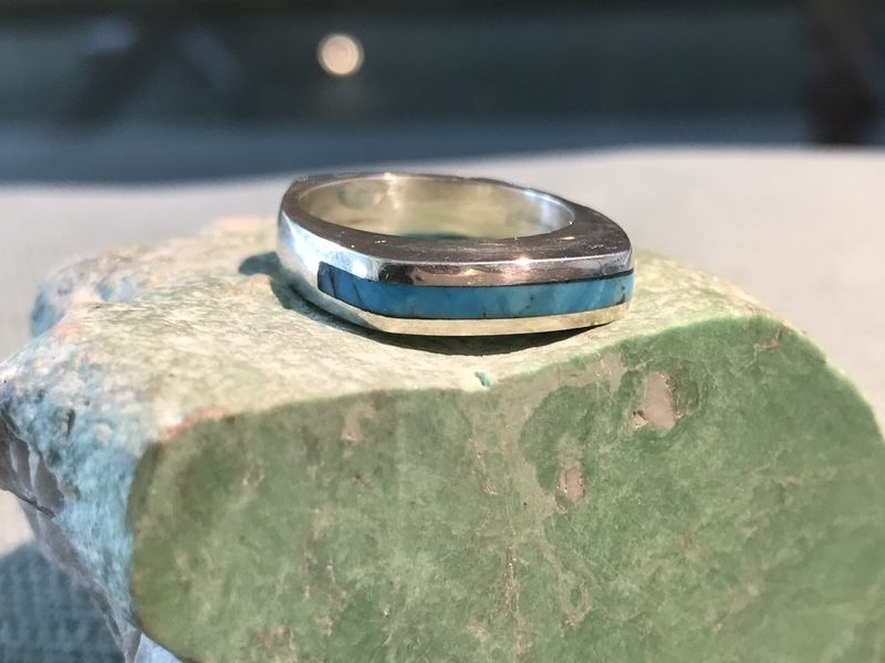 Narrow Stacker Ring (Turquoise)