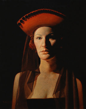 Figure with Red Hat and Veil