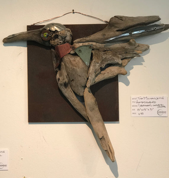 Humming Bird Wall Sculpture