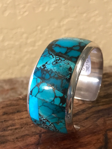 (RW1) All Mines Turquoise and Sterling Silver Cuff