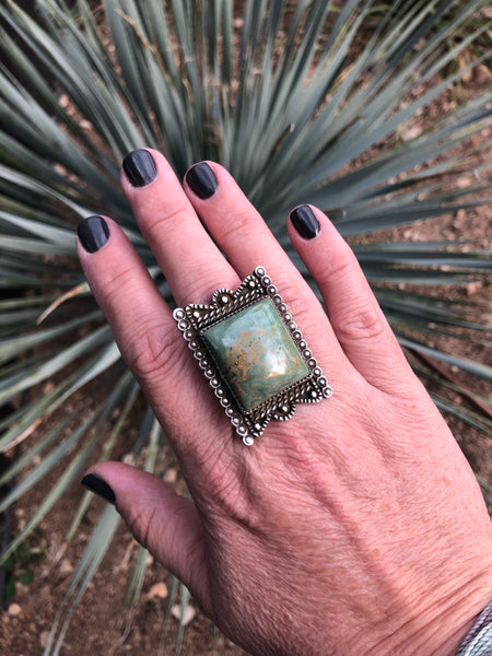 Vintage Navajo Turquoise Ring (98AACg)