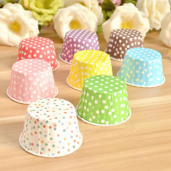 50 Classic Polka Dots Baking Cups [FREE + SHIPPING]