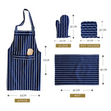 Deep Blue Cotton Kitchen Set
