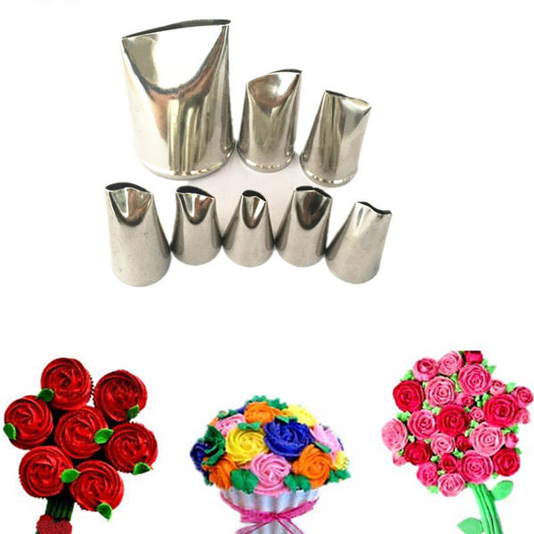 8-Piece Creative Rose Icing Nozzle Set