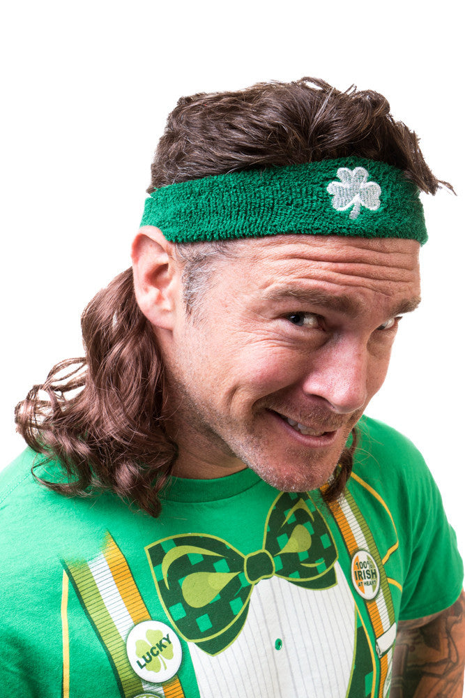 The Luck Charm Mullet Headband in Brown