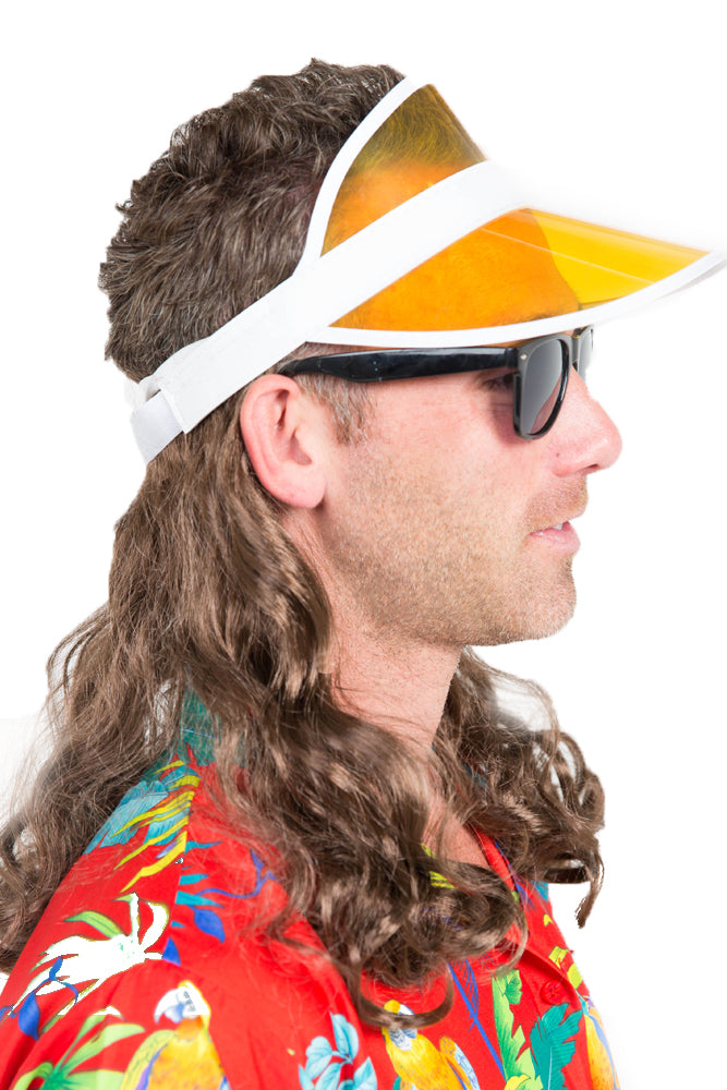 The Kook Mullet Wig Visor