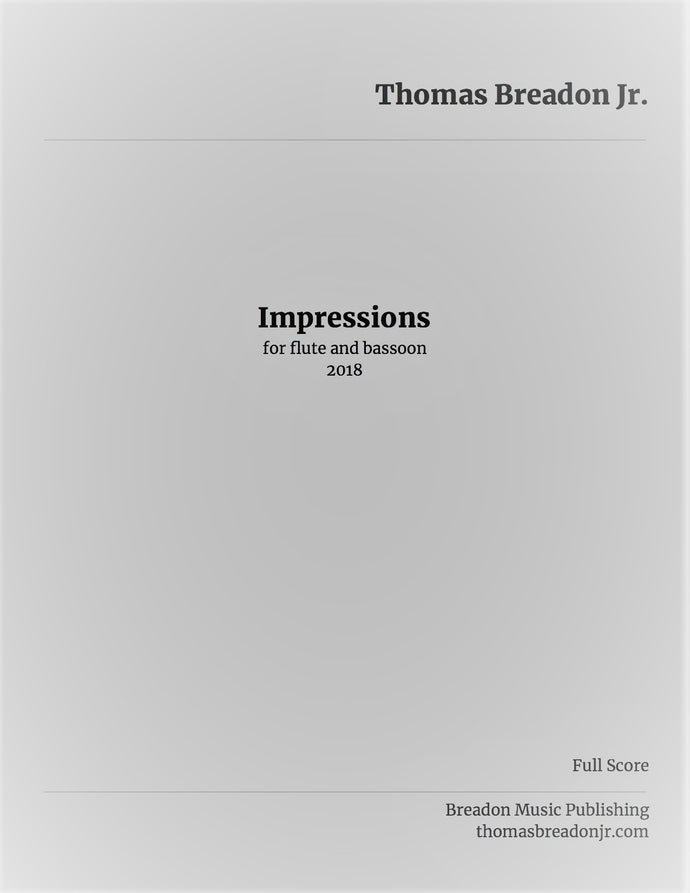 Impressions for flute and bassoon (Digital Download)