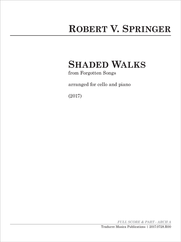 Shaded Walks (arr. cello and piano)
