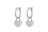 Heart Lock Earrings - Gold/Silver