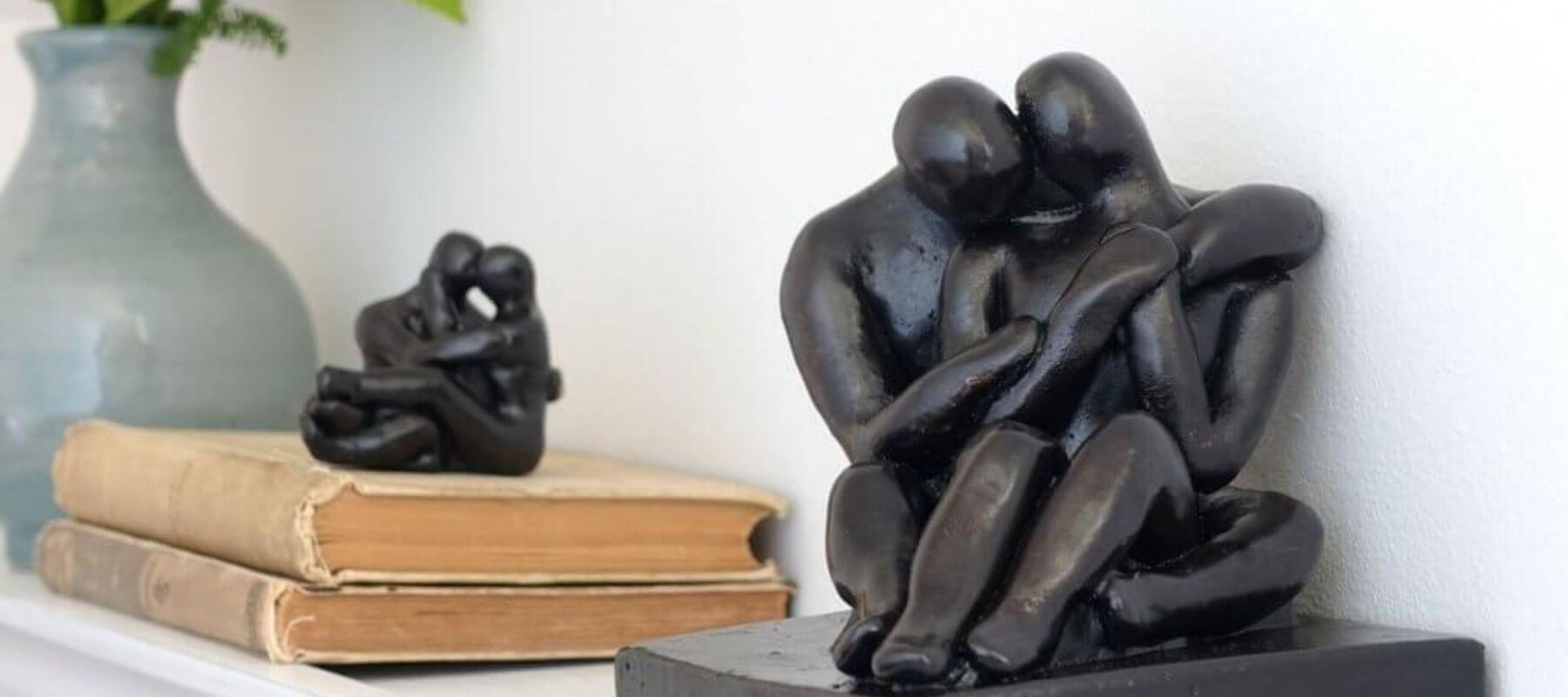 Original figure sculpture to celebrate love