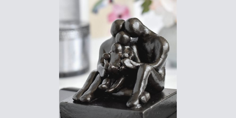 Limited Edition 9th wedding anniversary sculpture gift - Small Company Artworks