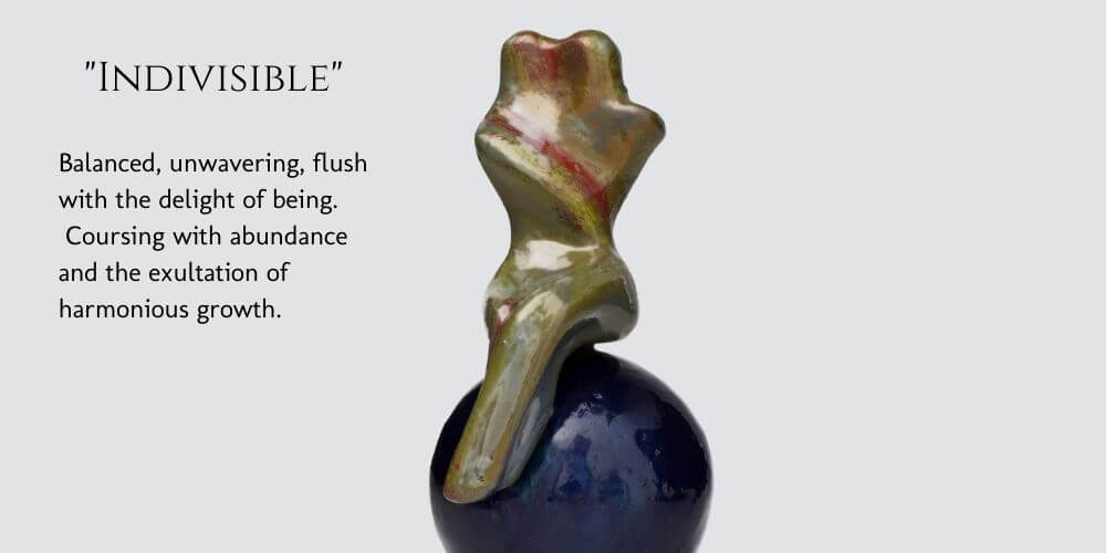 Indivisible abstract figure sculpture