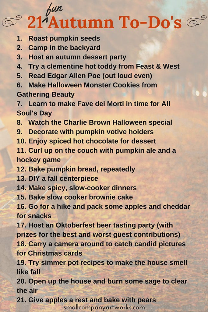 Ideas for fall fun