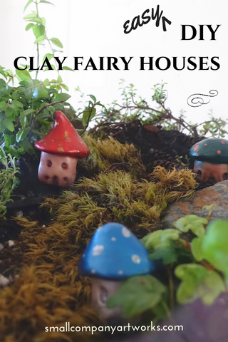 DIY terrarium fairy houses from Small Company Artworks