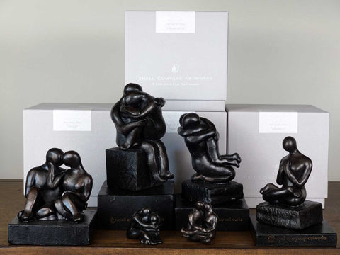 Sculpture display by Small Company Artworks
