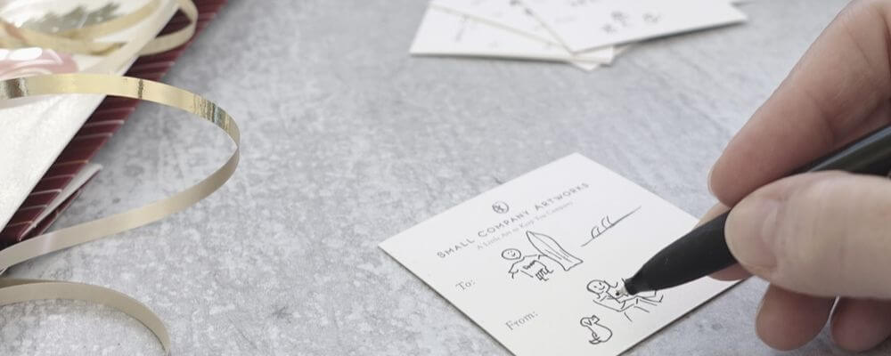 Get creative with gift tags for a meaningful touch