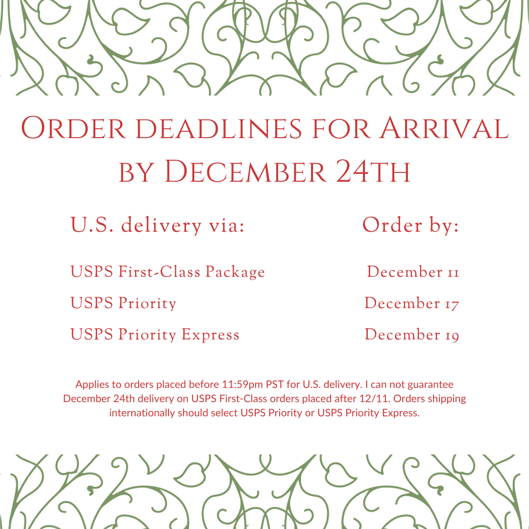 Order deadlines for Christmas gifts