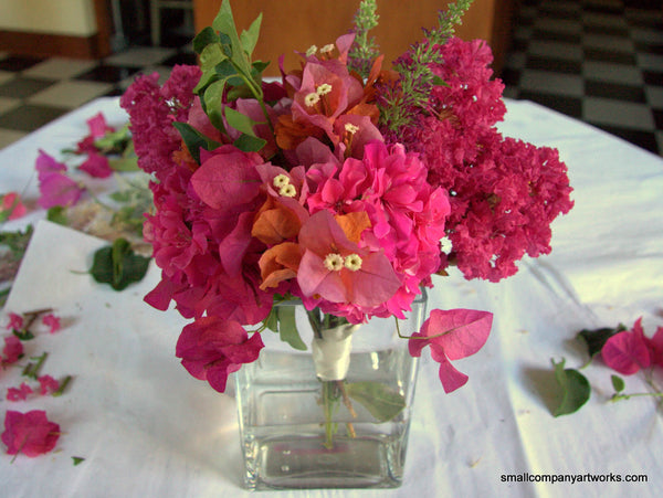 Easy pink flower bouquet